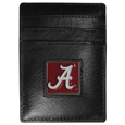 Alabama Crimson Tide Leather Money Clip/Cardholder Packaged in Gift Box
