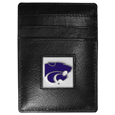 Kansas St. Wildcats Leather Money Clip/Cardholder