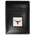 Texas Longhorns Leather Money Clip/Cardholder