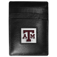 Texas A & M Aggies Leather Money Clip/Cardholder Packaged in Gift Box