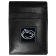 Penn St. Nittany Lions Leather Money Clip/Cardholder