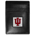 Indiana Hoosiers Leather Money Clip/Cardholder Packaged in Gift Box