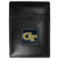 Georgia Tech Yellow Jackets Leather Money Clip/Cardholder