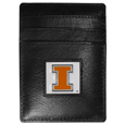 Illinois Fighting Illini Leather Money Clip/Cardholder Packaged in Gift Box