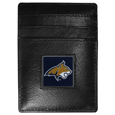 Montana St. Bobcats Leather Money Clip/Cardholder