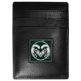 Colorado St. Rams Leather Money Clip/Cardholder Packaged in Gift Box