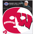 Wisconsin Badgers Game Face Temporary Tattoo