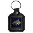 Montana St. Bobcats Square Leatherette Key Chain