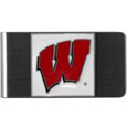 Wisconsin Badgers Steel Money Clip