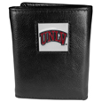 UNLV Rebels Deluxe Leather Tri-fold Wallet Packaged in Gift Box