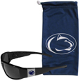 Penn St. Nittany Lions Chrome Wrap Sunglasses and Bag
