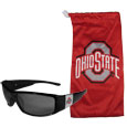 Ohio St. Buckeyes Chrome Wrap Sunglasses and Bag