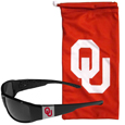 Oklahoma Sooners Chrome Wrap Sunglasses and Bag