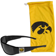 Iowa Hawkeyes Chrome Wrap Sunglasses and Bag