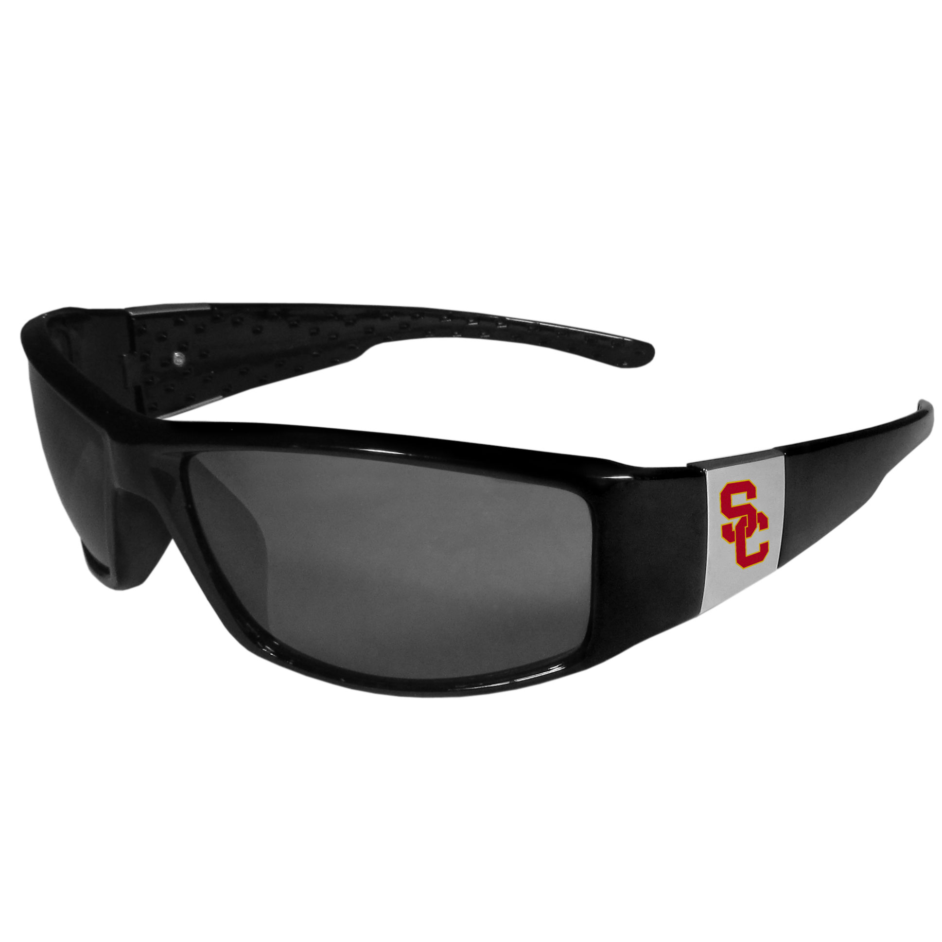 USC Trojans Chrome Wrap Sunglasses with Microfiber Bag NCAA Licensed
