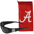 Alabama Crimson Tide Etched Chrome Wrap Sunglasses and Bag