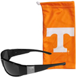 Tennessee Volunteers Etched Chrome Wrap Sunglasses and Bag