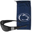 Penn St. Nittany Lions Etched Chrome Wrap Sunglasses and Bag