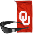 Oklahoma Sooners Etched Chrome Wrap Sunglasses and Bag
