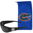 Florida Gators Etched Chrome Wrap Sunglasses and Bag