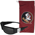 Florida St. Seminoles Etched Chrome Wrap Sunglasses and Bag