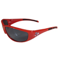 Fresno St. Bulldogs Wrap Sunglasses - A must have for game day and a perfect everday accessory for an avid Fresno St. Bulldogs fan. Our popular wrap sunglasses are as fashionable as they are durable. The team colored frames have flex hinges for comfort and durability with team colored rubber sports grips. Maximum UVA/UVB protection. Check out all our other great NFL, NCAA, MLB, NHL product line up. Thank you for shopping Crazed Out Sports!!