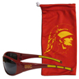 USC Trojans Sunglass and Bag Set - Get our most popular USC Trojans sunglasses with a matching microfiber bag carrying case. The wrap sunglasses are durable and fashionable with the maximum UVA/UBVB protection. The stylish bag is made of microfiber so it can also be used as a cleaning cloth. Thank you for shopping with CrazedOutSports.com