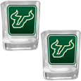 S. Florida Bulls Square Glass Shot Glass Set