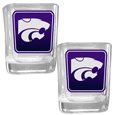 Kansas St. Wildcats Square Glass Shot Glass Set