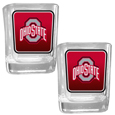 Ohio St. Buckeyes Square Glass Shot Glass Set