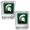 Michigan St. Spartans Square Glass Shot Glass Set