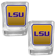 LSU Tigers Square Glass Shot Glass Set