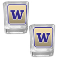 Washington Huskies Square Glass Shot Glass Set