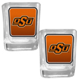 Oklahoma St. Cowboys Square Glass Shot Glass Set
