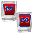 Mississippi Rebels Square Glass Shot Glass Set