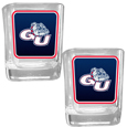 Gonzaga Bulldogs Square Glass Shot Glass Set