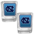 N. Carolina Tar Heels Square Glass Shot Glass Set