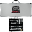 Alabama Crimson Tide 8 pc Stainless Steel BBQ Set w/Metal Case