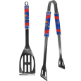 Kansas Jayhawks 2 pc Steel BBQ Tool Set - This Kansas Jayhawks stainless steel 2 pc BBQ set is a tailgater's best friend. The colorful and large team graphics let's everyone know you are a fan! The Kansas Jayhawks 2 pc Steel BBQ Tool set in includes a spatula and tongs with the Kansas Jayhawks proudly display on each tool.