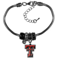 Texas Tech Raiders Euro Bead Bracelet