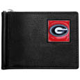 Georgia Bulldogs Leather Bill Clip Wallet