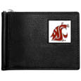 Washington St. Cougars Leather Bill Clip Wallet