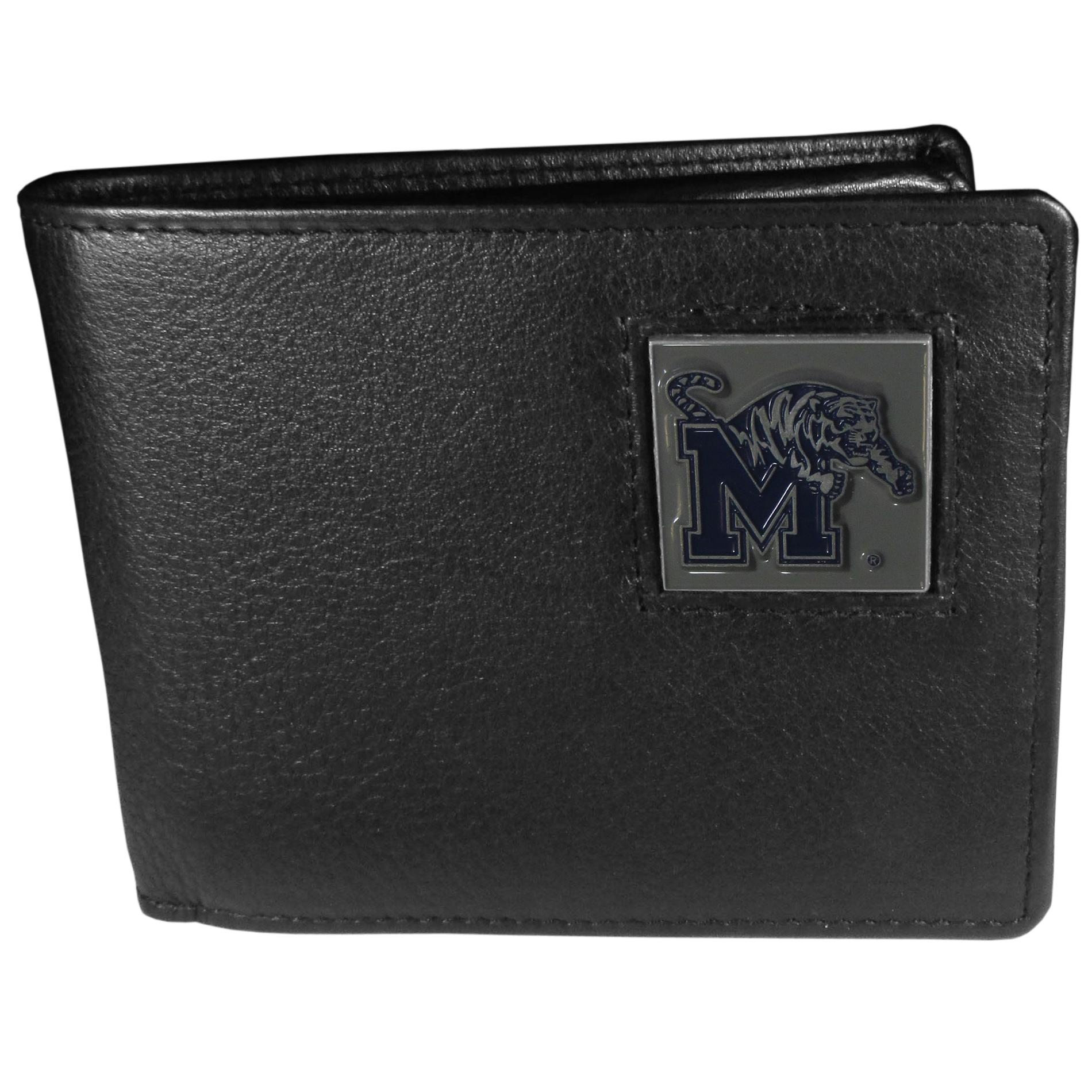 Planet Sports Team Memphis Tigers Leather Bi Fold Wallet