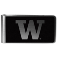 Washington Huskies Black and Steel Money Clip
