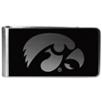 Iowa Hawkeyes Black and Steel Money Clip