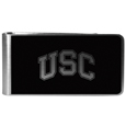 USC Trojans Black and Steel Money Clip