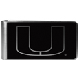 Miami Hurricanes Black and Steel Money Clip