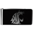 Washington St. Cougars Black and Steel Money Clip