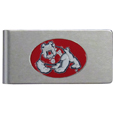 Fresno St. Bulldogs Brushed Metal Money Clip - Our brushed metal money clip has classic style and functionality. The attractive clip features a metal Fresno St. Bulldogs emblem with expertly enameled detail Thank you for shopping with CrazedOutSports.com