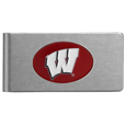 Wisconsin Badgers Brushed Metal Money Clip